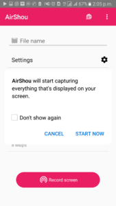 air shou screen recorder screen