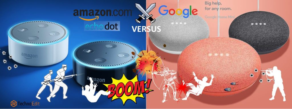 Amazon echo dot versus Google Home mini