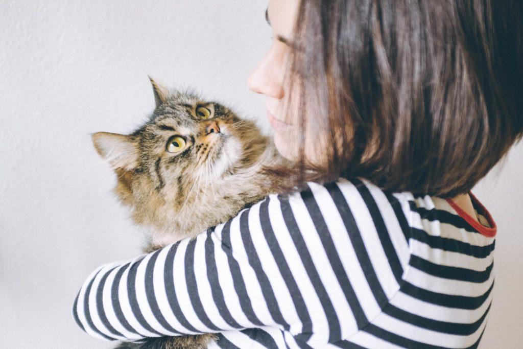 Helen Morrice with cat