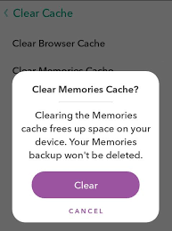 snapchat cache